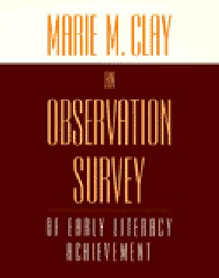Image for An Observation Survey: of early literacy achievement