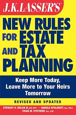 Image for JK Lasser's New Rules for Estate and Tax Planning
