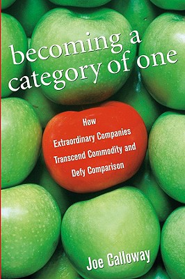 Image for Becoming a Category of One: How Extraordinary Companies Transcend Commodity and Defy Comparison