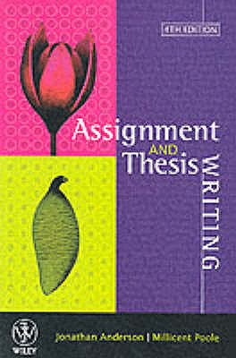 Assignment and Thesis Writing, Anderson, Jonathan,  Poole, Millicent E.