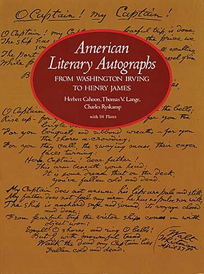 Image for American Literary Autographs from Washington Irving to Henry James