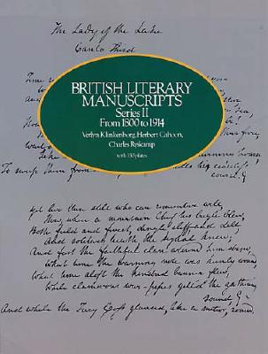 Image for British Literary Manuscripts, Series II  From 1800 to 1914