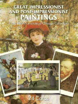 Great Impressionist and Post-Impressionist Paintings: 24 Cards From The Art Institute of Chicago Collection (Card Books)