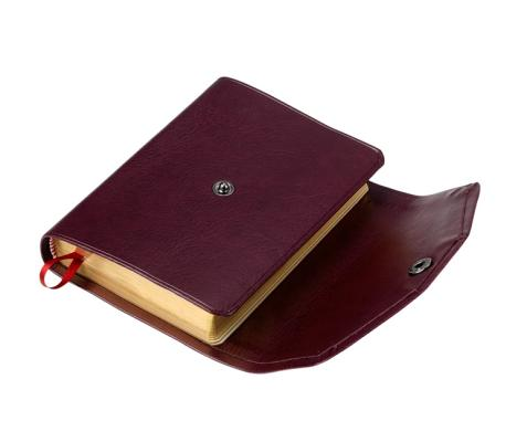 Image for KJV Pocket Reference Edition KJ242:XRF Burgundy Imitation Leather, with Flap Fastener