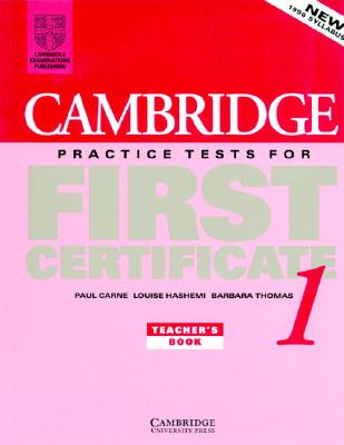 Image for Cambridge Practice Tests for First Certificate 1 Teacher's book