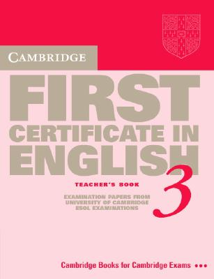 Image for Cambridge First Certificate in English 3 TB