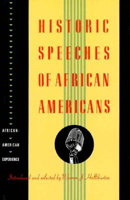 Image for Historic Speeches of African Americans by Halliburton, Warren J.