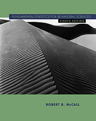 Fundamental Statistics for Behavioral Sciences, McCall, Robert B.