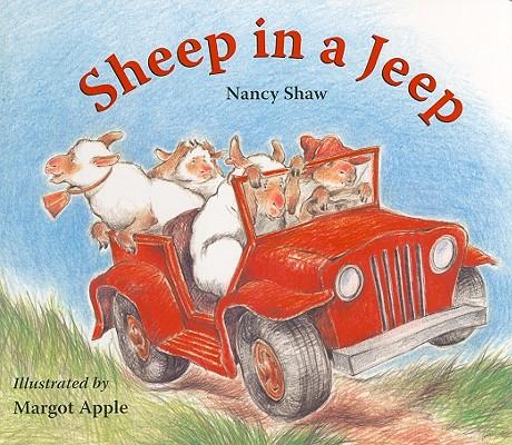 "Sheep in a Jeep Lap-Sized Board Book, ""Shaw, Nancy E."""