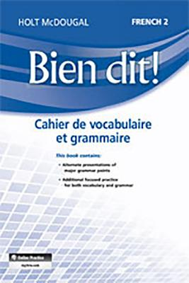 Image for Bien dit!: Vocabulary and Grammar Workbook Student Edition Level 2 (French Edition)