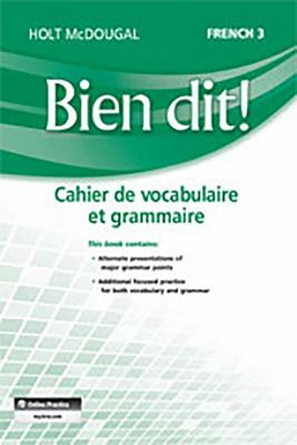 Image for Bien Dit!: Vocabulary and Grammar Workbook Student Edition Level 3 (French Edition)