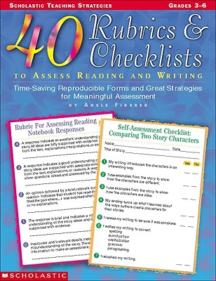 Image for 40 Rubrics & Checklists to Assess Reading and Writing (Grades 3-6)