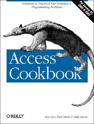 Image for Access Cookbook (O'Reilly Windows)