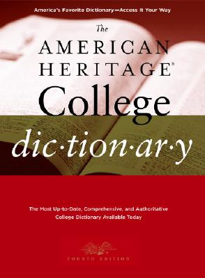 Image for AMERICAN HERITAGE COLLEGE DICTIONARY