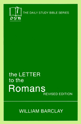 Image for The Letter to the Romans (The Daily Study Bible Series)