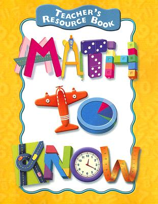 Image for Teacher's Resource Book, Math to Know