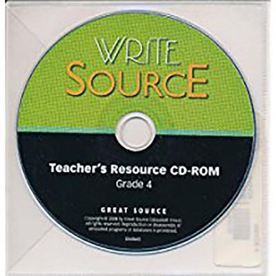 Image for Write Source: Teacher's Resource CD-ROM, Grade 4