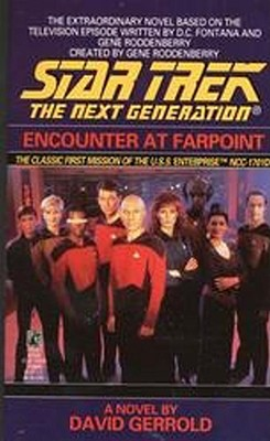 Encounter at Farpoint (Star Trek: The Next Generation), David Gerrold, D.C. Fontana, Gene Roddenberry