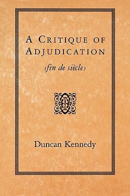 Image for A Critique of Adjudication [fin de siècle]