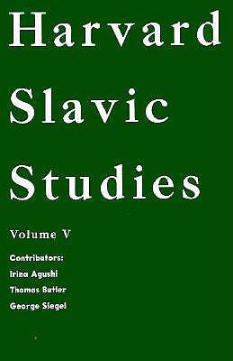 Image for Harvard Slavic Studies Volume V