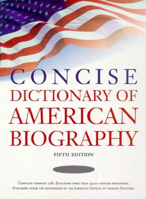 Image for Concise Dictionary of American Biography