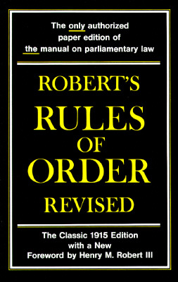 Image for ROBERT'S RULES OF ORDER REVISED