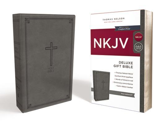 Image for NKJV Deluxe Gift Bible LS Gray RL