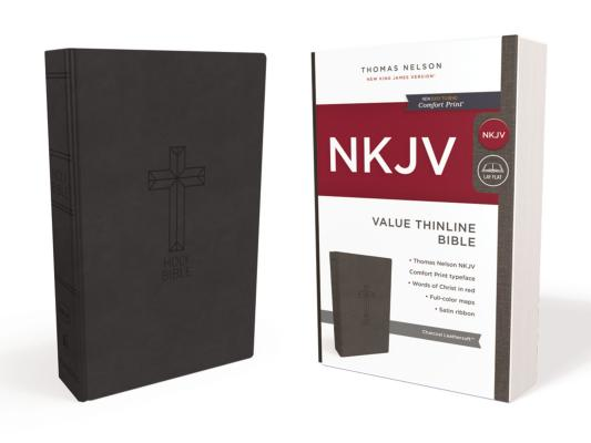 NKJV, VALUE THINLINE BIBLE, LEATHERSOFT, BLACK, RED LETTER EDITION, COMFORT PRINT: HOLY BIBLE, NEW K, NELSON, THOMAS