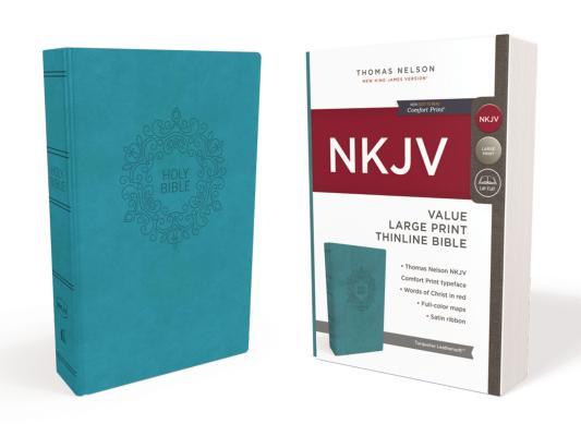 Image for NKJV Value Thinline Bible LP LS Blue RL