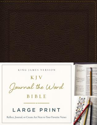 Image for KJV, Journal the Word Bible, Large Print, Bonded Leather, Brown, Red Letter Edition: Reflect, Journal, or Create Art Next to Your Favorite Verses