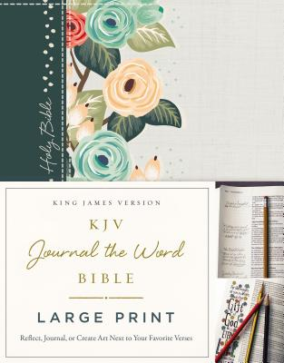 "Image for ""''KJV Journal the Word Bible (Large Print, Green Floral Cloth Over Board)''"""