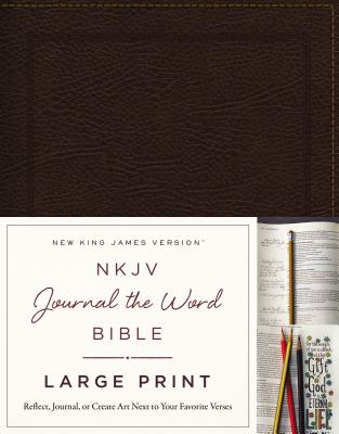 "Image for ""NKJV Journal the Word Bible (Large Print, Brown Bonded Leather)"""
