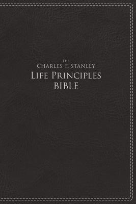 Image for NIV, The Charles F. Stanley Life Principles Bible, Imitation Leather, Black, Red Letter Edition
