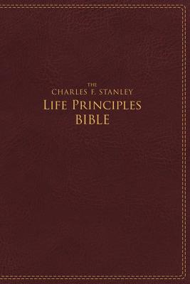 Image for NIV, The Charles F. Stanley Life Principles Bible, Imitation Leather, Burgundy, Red Letter Edition