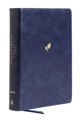 Image for NIV, Lucado Encouraging Word Bible, Leathersoft, Blue, Comfort Print: Holy Bible, New International Version