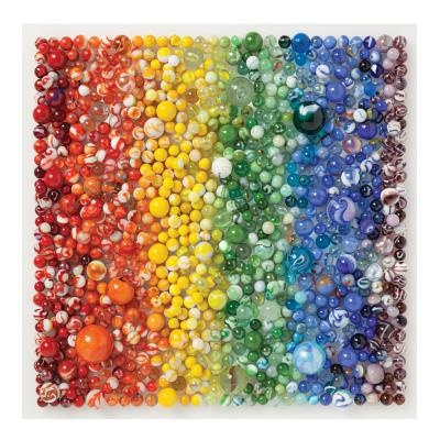 Image for Galison 500 Piece Rainbow Marbles Jigsaw Puzzle for Families and Adults, Finished Puzzle is a Unique Rainbow Image, Photo Art Puzzle Includes Varying Colors and Sizes of Marbles