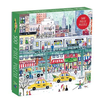 Image for Galison Michael Storrings 500 Piece New York City Jigsaw Puzzle for Adults and Families, Holiday Puzzle with Winter Scenery in New York City