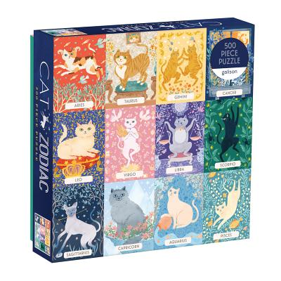 Image for Galison Cat Zodiac 500 Piece Puzzle, Multicolor, 1 EA