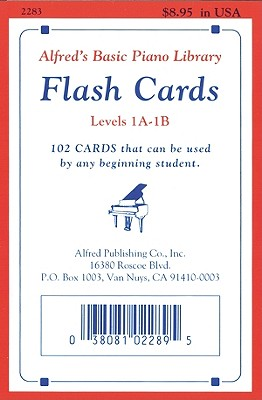 Image for ALFRED'S BASIC PIANO LIBRARY FLASH CARDS LEVELS 1A - 1B 102 CARDS THAT CAN BE USED BY ANY BEGINNING STUDENT