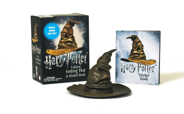 HARRY POTTER TALKING SORTING HAT AND STICKER BOOK, RUNNING PRESS