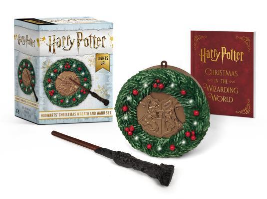 Image for Harry Potter: Hogwarts Christmas Wreath and Wand Set: Lights Up!
