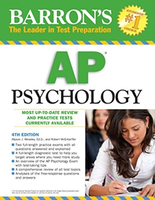 Barron's AP Psychology (Barron's AP Psychology Exam), McEntarffer, Robert; Weseley Ed.D., Allyson J.