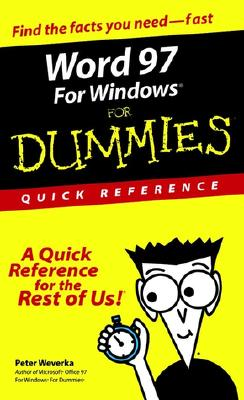 Image for Word 97 for Windows for Dummies: Quick Reference