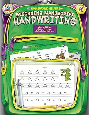 Image for Beginning Manuscript Handwriting, Grade K (Homework Helper)