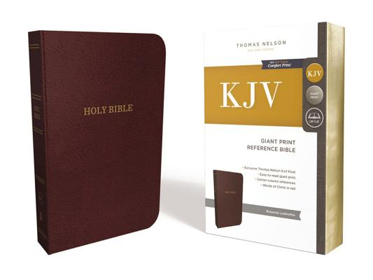 Image for KJV Reference Bible Giant Print Leather-Look Burgundy Red Letter Edition