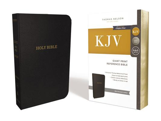 KJV, REFERENCE BIBLE, CENTER-COLUMN GIANT PRINT, BONDED LEATHER, BLACK, RED LETTER EDITION, COMFORT, NELSON, THOMAS