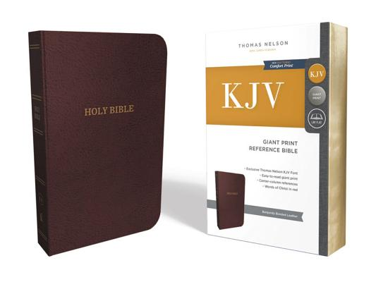 KJV, REFERENCE BIBLE, CENTER-COLUMN GIANT PRINT, BONDED LEATHER, BURGUNDY, RED LETTER EDITION, COMFO, NELSON, THOMAS