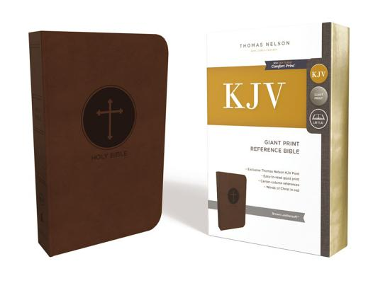Image for KJV Reference Bible Giant Print Imitation Leather Brown Red Letter Edition