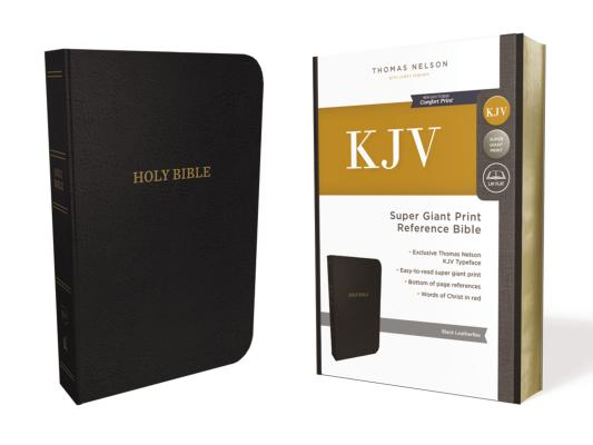 KJV, REFERENCE BIBLE, SUPER GIANT PRINT, LEATHER-LOOK, BLACK, RED LETTER EDITION, COMFORT PRINT: HOL, NELSON, THOMAS