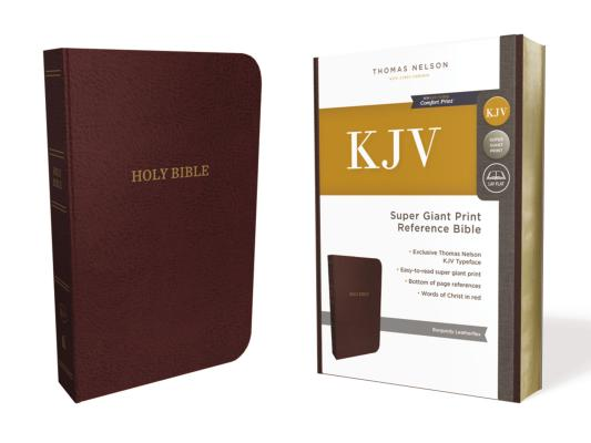 Image for KJV Reference Bible Super Giant Print Leather-Look Burgundy Red Letter Edition